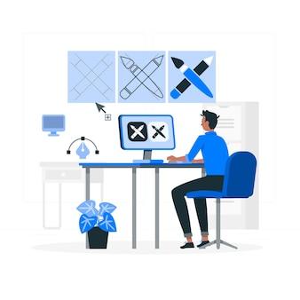 Ikona ilustracja koncepcja projektowania