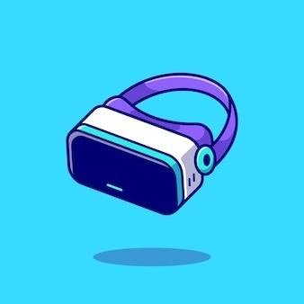 Ikona ilustracja kreskówka wirtualnej rzeczywistości. koncepcja ikona obiektu technologii na białym tle. płaski styl kreskówki