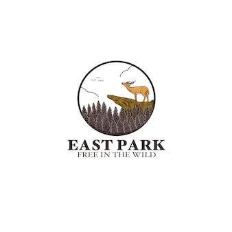 Ikona ilustracja logo dzikiego jelenia