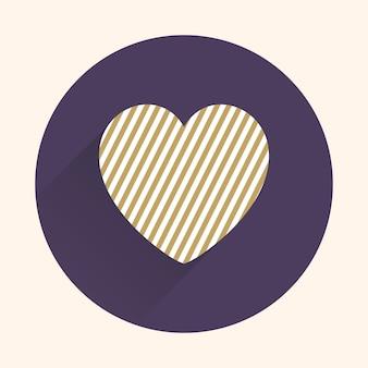 Ikona ilustracja serca. walentynki karty dla szablonu wakacje. kreatywny i luksusowy styl