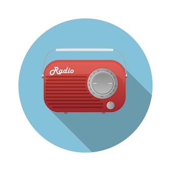 Ikona ilustracja stary tuner radiowy