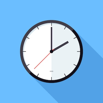 Ikona ilustracja zegar