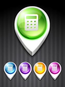 Ikona kalkulatora ikona sztuki projektowania