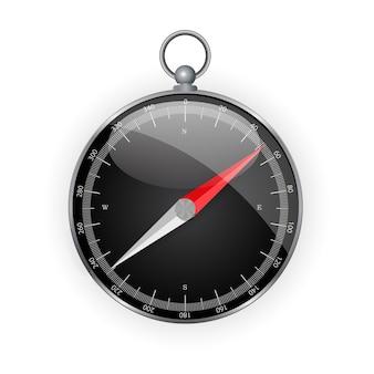 Ikona kierunku kompasu do projektowania stron internetowych na białym tle