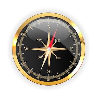 Ikona kierunku kompasu na projektowanie stron internetowych na białym tle