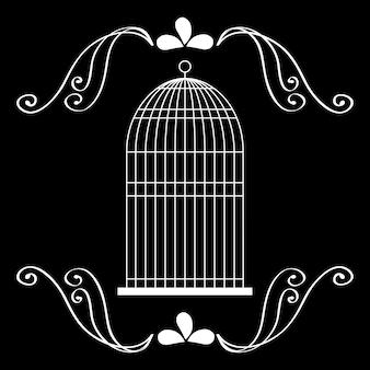 Ikona klatki dla ptaków.