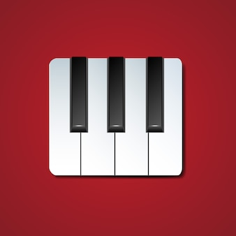 Ikona klawiszy fortepianu z cienia