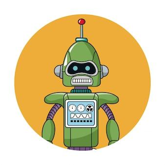 Ikona koło technologii robota