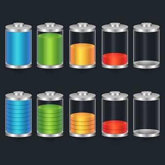 Ikona kolorowy wskaźnik ładowania baterii