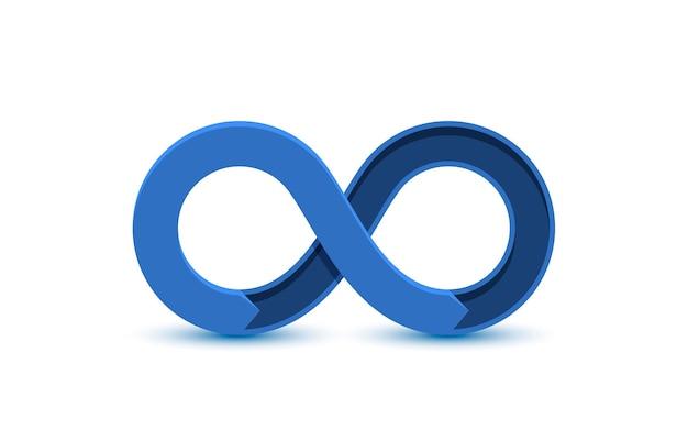 Ikona koloru nieskończoności, grafika elementu znaku infografiki
