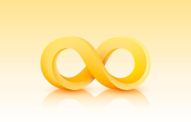 Ikona koloru nieskończoności, grafika elementu znaku,