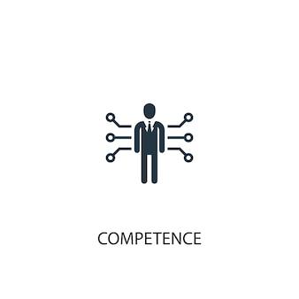 Ikona kompetencji. prosta ilustracja elementu. koncepcja symbolu kompetencji. może być używany w sieci i na urządzeniach mobilnych.