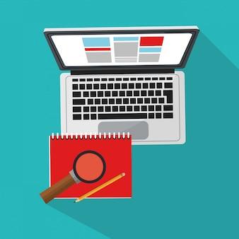 Ikona komputera i dokumentów