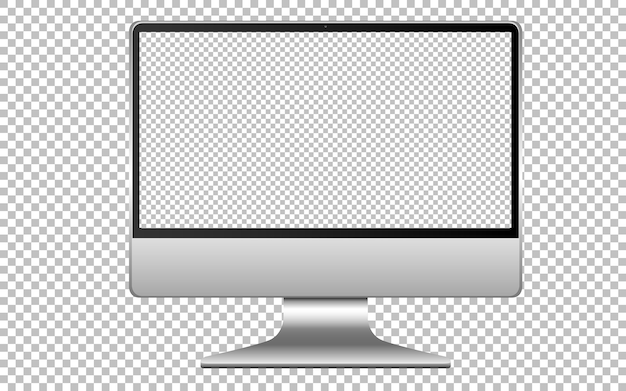 Ikona komputera pusty ekran na białym tle