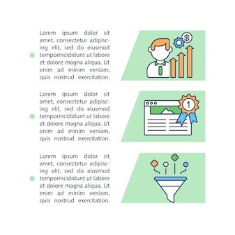 Ikona koncepcja doradztwa inwestycyjnego z tekstem. poprawa biznesu i wydajności
