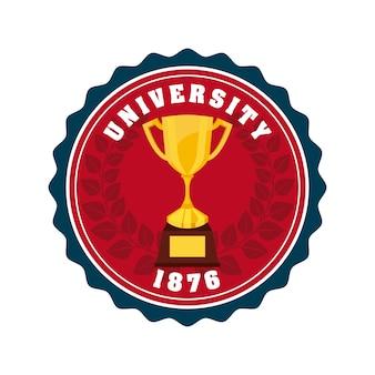 Ikona koncepcja godło uniwersytetu