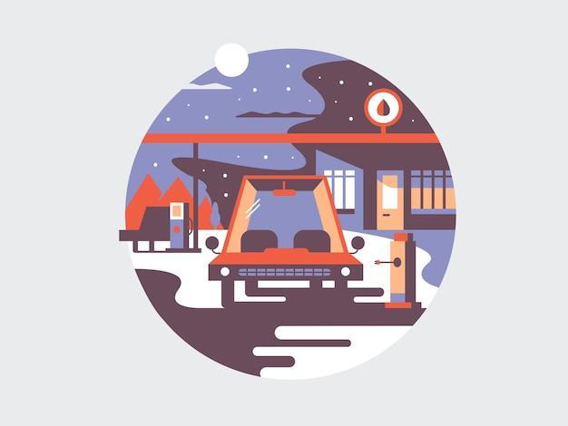 Ikona koncepcja ładowania pojazdu elektrycznego