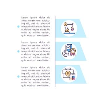 Ikona koncepcja metody redukcji kosztów z tekstem. zmniejszenie wartości w gotówce czegoś. szablon strony ppt.