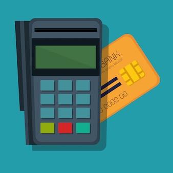 Ikona koncepcja płatności mobilnych