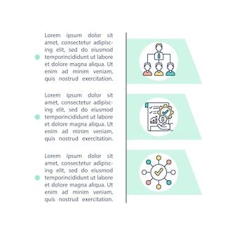 Ikona koncepcja rightsizing struktury z tekstem. zaproś nowe osoby do swojej organizacji. szablon strony ppt.