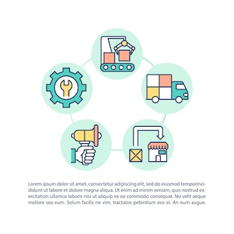 Ikona koncepcja rightsizing wydatków z tekstem. zarządzanie różnymi procesami w twojej firmie. szablon strony ppt.