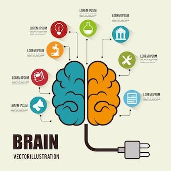 Ikona koncepcja szturmowy mózgu