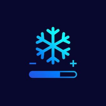 Ikona kontroli chłodzenia w ciemności