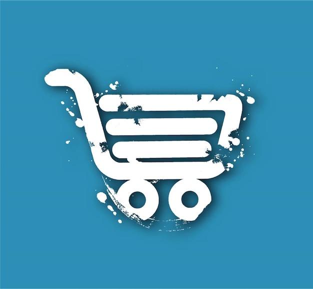 Ikona koszyka na zakupy, projekt koszyka na zakupy - ilustracja wektorowa