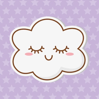 Ikona kreskówka chmura