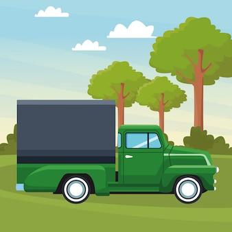 Ikona Kreskówka Ciężarówka Premium Wektorów