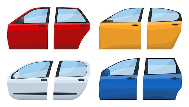 Ikona kreskówka drzwi samochodu.