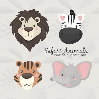 Ikona kreskówka głowa zwierząt