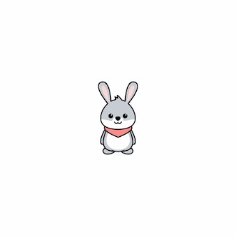 Ikona kreskówka ładny królik