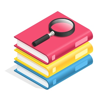 Ikona książki izometryczny