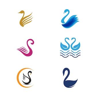 Ikona łabędzia szablon projektu ilustracji wektorowych