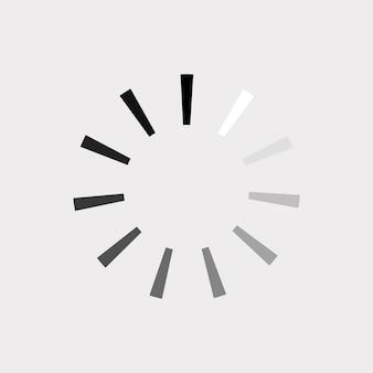 Ikona ładowania. procentowy postęp ładowania, pobierania, przesyłania. ilustracja wektorowa.