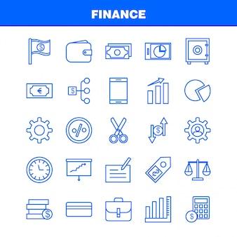 Ikona linii finansów