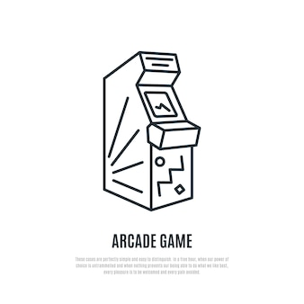Ikona linii gry zręcznościowej