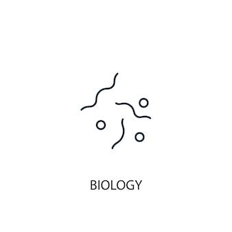 Ikona linii koncepcja biologii. prosta ilustracja elementu. koncepcja biologii konspektu symbol projektu. może być używany do internetowego i mobilnego interfejsu użytkownika/ux
