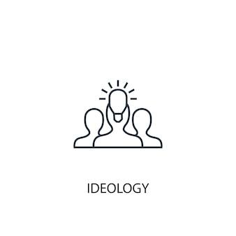 Ikona linii koncepcja ideologii. prosta ilustracja elementu. koncepcja ideologii zarys symbolu projektu. może być używany do internetowego i mobilnego interfejsu użytkownika/ux