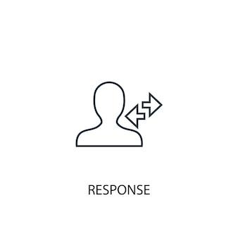 Ikona linii koncepcja odpowiedzi. prosta ilustracja elementu. koncepcja odpowiedzi zarys symbol projekt. może być używany do internetowego i mobilnego interfejsu użytkownika/ux