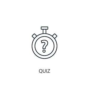 Ikona linii koncepcja quizu. prosta ilustracja elementu. quiz koncepcja konspektu symbol projekt. może być używany do internetowego i mobilnego interfejsu użytkownika/ux