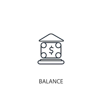Ikona linii koncepcja równowagi. prosta ilustracja elementu. równowaga koncepcja symbol zarys projektu. może być używany do internetowego i mobilnego interfejsu użytkownika/ux
