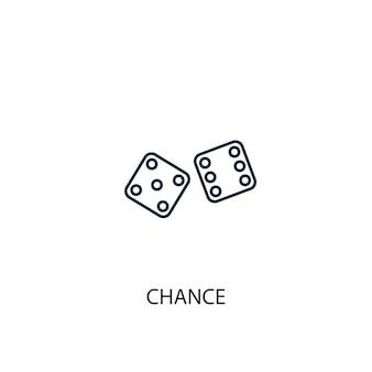Ikona linii koncepcja szansa. prosta ilustracja elementu. szansa koncepcja zarys projektu symbolu. może być używany do internetowego i mobilnego interfejsu użytkownika/ux