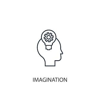 Ikona linii koncepcja wyobraźni. prosta ilustracja elementu. wyobraźnia koncepcja zarys symbol projekt. może być używany do internetowego i mobilnego interfejsu użytkownika/ux