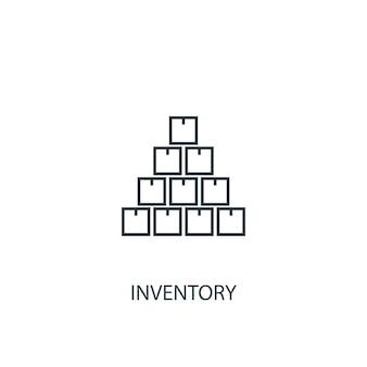 Ikona linii koncepcja zapasów. prosta ilustracja elementu. koncepcja inwentaryzacji zarys symbolu projektu. może być używany do internetowego i mobilnego interfejsu użytkownika/ux