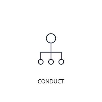 Ikona linii koncepcji postępowania. prosta ilustracja elementu. prowadzić projekt symbolu konspektu koncepcji. może być używany do internetowego i mobilnego interfejsu użytkownika/ux
