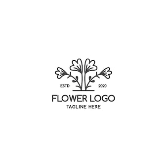 Ikona linii kwiat. ilustracja kwiat płaski