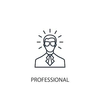 Ikona linii profesjonalnej koncepcji. prosta ilustracja elementu. profesjonalny projekt symbolu konspektu koncepcji. może być używany do internetowego i mobilnego interfejsu użytkownika/ux