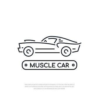 Ikona linii samochodu mięśni